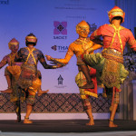 Khon dance demonstration put on for the conference