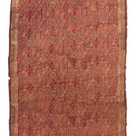Lot 260. A COTTON TEXTILE PANEL, GUJARAT, INDIA FOR THE INDONESIAN MARKET, 15TH/17TH CENTURY. EST. £2,000 - £3,000
