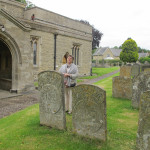 Elena Tsareva at St Edmunds Church, Warkton on the Boughton estate, Northamptonshire where the marble 'Montagu Monuments' are undergoing restoration