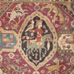 A cartouche detail from a late-16th-century Persian Sanguszko carpet, Boughton House
