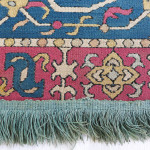 Caucasian embroidery, Azerbaijan, 1800–1840 at the Clothworkers' Centre at Blythe House in Olympia, London. 931-1889