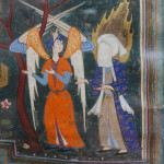 Muhammed and Jabril visiting paradise (detail), Iran, c. 1580, ink, colour and gold on paper, The Ashmolean Museum, Oxford