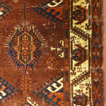 Turkmen carpet (detail) from the Reitlinger collection in the Jameel study room at the Ashmolean Museum, Oxford. EA1978.1400
