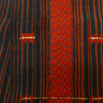 Cloth with dog hair dyed red, Nagaland, India, Pitt Rivers Museum, Oxford. 1928.69.588