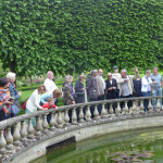 Roger Vlitos, curator of the Faringdon Collection, guides the tour around the Four Seasons Garden at Buscot Park, Oxfordshire