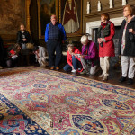 Behind the ropes with a late-16th-century Persian Sanguszko carpet at Boughton House, Northamptonshire