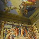 Ceiling murals and Mortlake tapestries in Boughton House, Northamptonshire