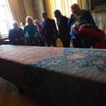 Medallion Ushak table carpet at Hardwick Hall, Derbyshire