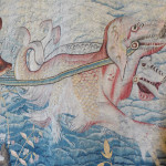 Seadog tapestry at Hardwick Hall, Derbyshire