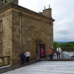 HALI Tour group 'take the lead' on the roof of Hardwick Hall as guests of Bess of Harwick would have done in the 17th century to access the turret rooms