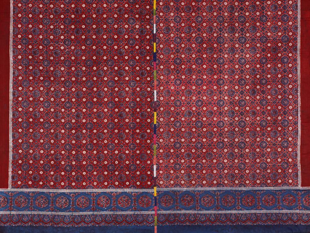 David Collection Block-printed shawl (ajrakh), Nasirabad, Sindh, Pakistan, 1980s 4