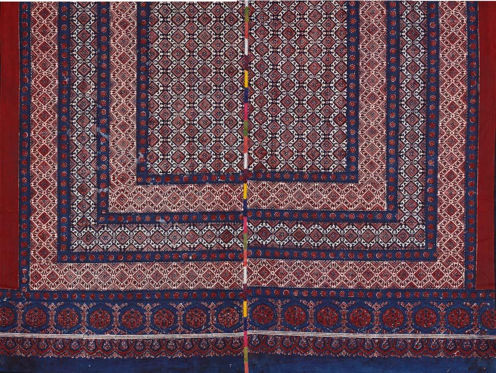 David Collection Block-printed shawl (ajrakh), Nasirabad, Sindh, Pakistan, 1980s