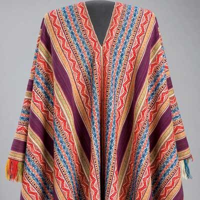 Santa Fe News >> Bolivian Aymara ponchos at Siegal Gallery, Santa Fe - HALI