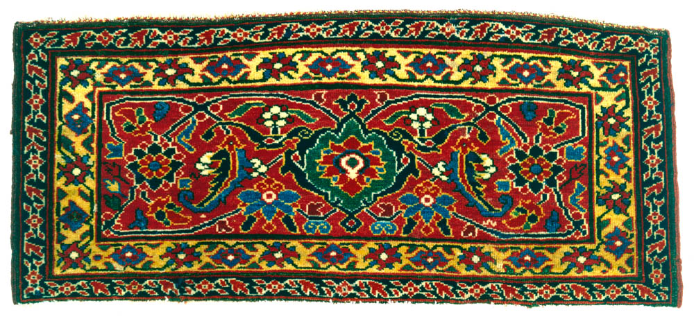 West Persian Herati Design Knotted Pile Mafrash Panel, 19th Century. Paquin  Collection