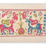 Arts & Textiles of the Islamic and Indian Worlds Lot 443 A SECTION FROM AN EPIRUS BED SHEET, OTTOMAN GREECE OR ALBANIA, 18TH CENTURY Estimate £2000-3000