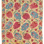 Arts & Textiles of the Islamic and Indian Worlds Lot 446 AN OTTOMAN EMBROIDERED PANEL. TURKEY, LATE 18TH/EARLY 19TH CENTURY Estimate £8000-12,000