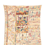 Arts & Textiles of the Islamic and Indian Worlds Lot 506 AN EMBROIDERY SAMPLER, MOROCCO, 19TH CENTURY Estimate £1500-2000