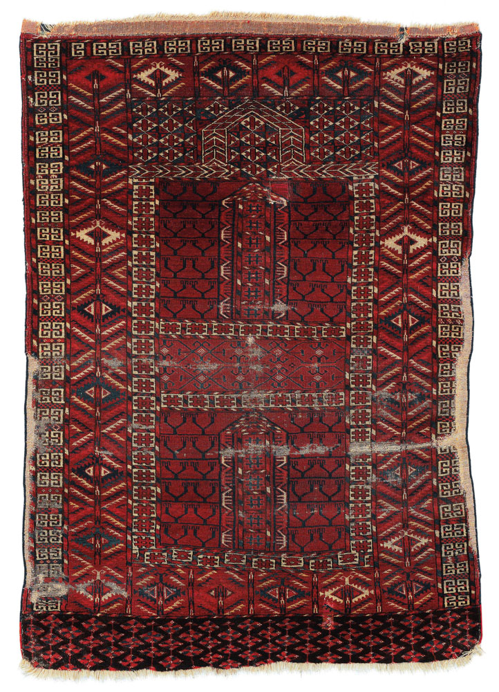 Lot No. 161, Tekke Ensi, West Turkestan, c. 145 x 105 cm, beginning of the 19th century. Estimate €1,200-1,500