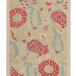 Art of the Islamic and Indian Worlds Lot 96  A SILK EMBRIODERED PANEL, EPIRUS, GREECE, 18TH CENTURY Estimate £6000-8000