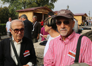 Edgard Hamalian and Joe Bezdjian of the Armenian Rug Society in San Francisco