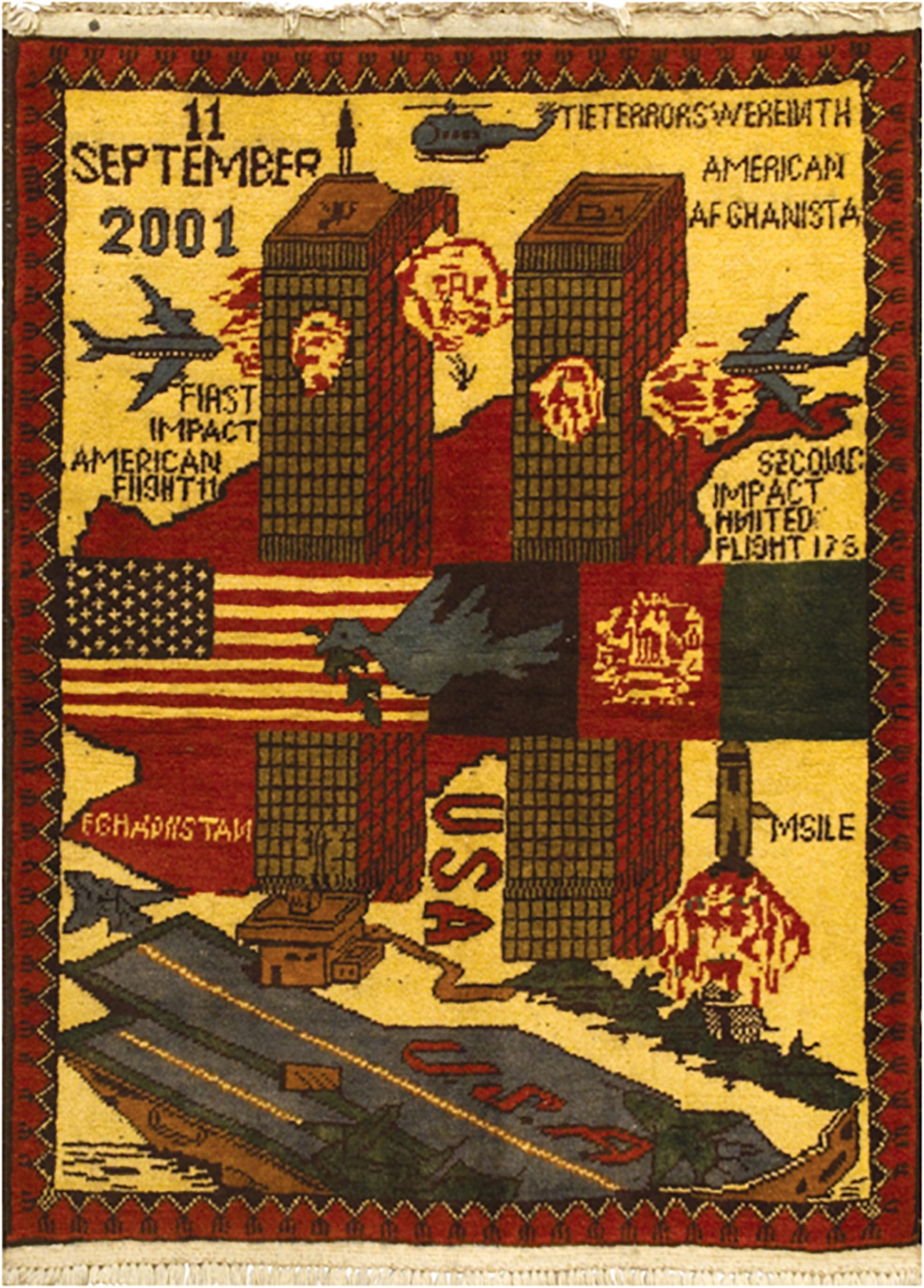 War Rug Twin Towers
