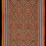 """Pua kumbu, Borneo, Serawak, Iban Dayak, 1940, cotton, 1.04 x 2.11 m (40.9 x 83"""")"""