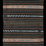 "Tais (sarong), Timor, 1950, cotton, two panels, 0.5 x 1.34 m (19.6 x 52.7""). One of fewer than ten known examples"