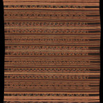 Ceremonial or festive sarong for woman of high status, Lamaholot people, Adonara. Solor Archipelago. Ca. 1920-1940. Mainly handspun cotton, 2 panels, 70 x 125 cm / 27.5 x 49.2 in
