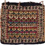 Chanteh, Shahsavan, Veramin region, Northwest Persia, Circa 1880, Silk and wool, 20 x 22 cm (7.5 x 8.5 in.), Edi Egli Collection, St. Gallen