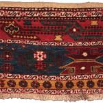 Pile mafrash side panel, Shahsavan, Northwest Persia, Circa 1880, 45 x 55 cm (18 x 22 in.)