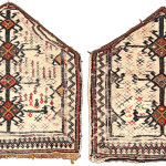 Pair of sumakh bedding bag side panels, Bakhtiari tribe, West Persia, Circa 1850, 52 x 52 cm (20.5 x 20.5 in.), James Opie, Portland