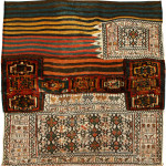 Sumakh and pile large bedding bag panel, Bakhtiari tribe, West Persia, Circa 1900, 122 x 114 cm (48 x 45 in.)