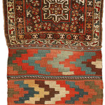 Pile khorjin, Khamseh Confederacy, Basseri tribe, Southern Persia, Circa 1870, 95 x 55 cm (37.5 x 21.5 in.), The Kossow Collection, Bremen, Najib Burgai, Hamburg