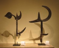 Erik Farrow's Zairean throwing knives at the San Francisco Tribal Art Association's 10th anniversary show