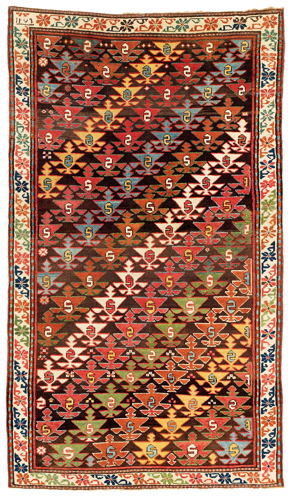 Lot 116, Caucasian Shahsavan carpet, dated 1279 AH (1863 AD)m estimate €8,500