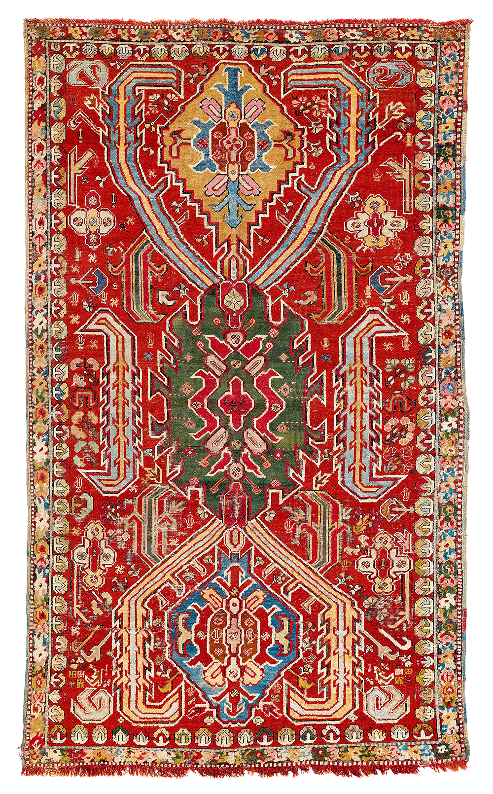 Lot 154, West Anatolian Dragon Carpet, Armenia, dated 1206 (1792), estimate €9,000