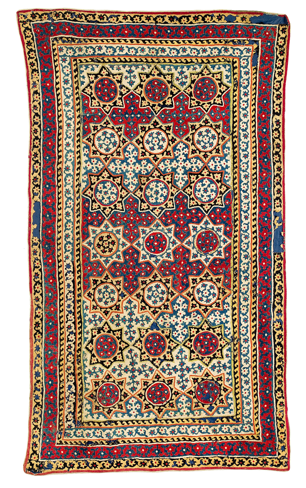 Lot 69, Felt Appliqué Cover, Central Asia, Uzbekistan, mid 18th century, 215 x 120 cm, estimate €1,500