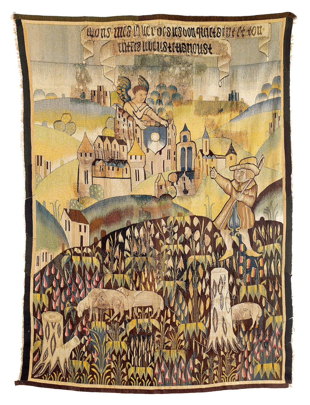 Tapisserie de la Marche, Tapestry, Central France, Limousin region, 16th century, 234 x 174 cm, estimate € 4,000