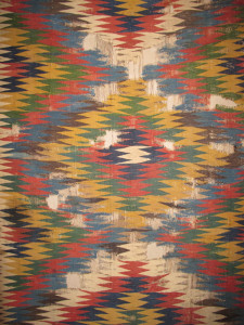 "Kilim, 19th century South-Persia, Fars region, Ghashghai nomads, Kashkuli 172 x 325 cm. ""100 kilims' at Neiriz collection at Halle"