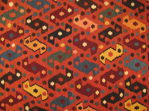 Kilims from the Neiriz Collection at the Volkspark, Halle. Shahsavan nomads, northwest Persia kilim, late 19th century, northwest-Persia, Azerbaijan. Neiriz Collection 166 x 395 cm