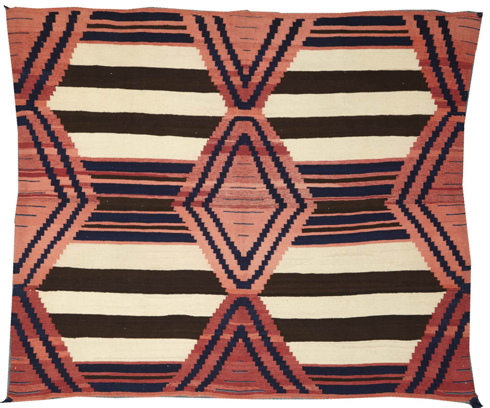 Lot 2216 - A Navajo late classic chief's blanket