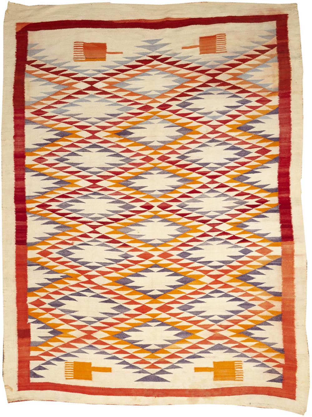 Lot 2233 - A Navajo transitional rug