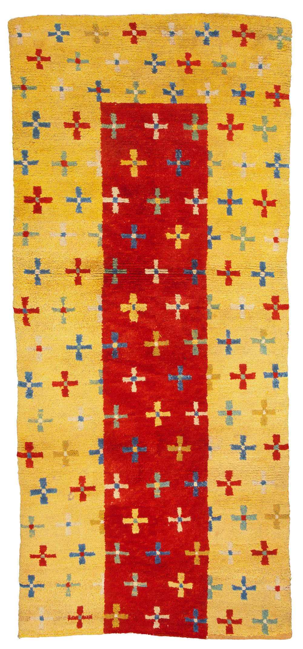 Tibetan rugs at Cologne Fine Art 2014, 'Tie-dye-Crosses' Rug, circa 1900, 180 x 80 cm