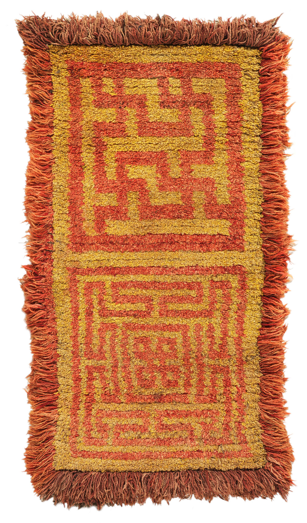 Wangden warp face back rug, 19th century, 160 x 76 cm