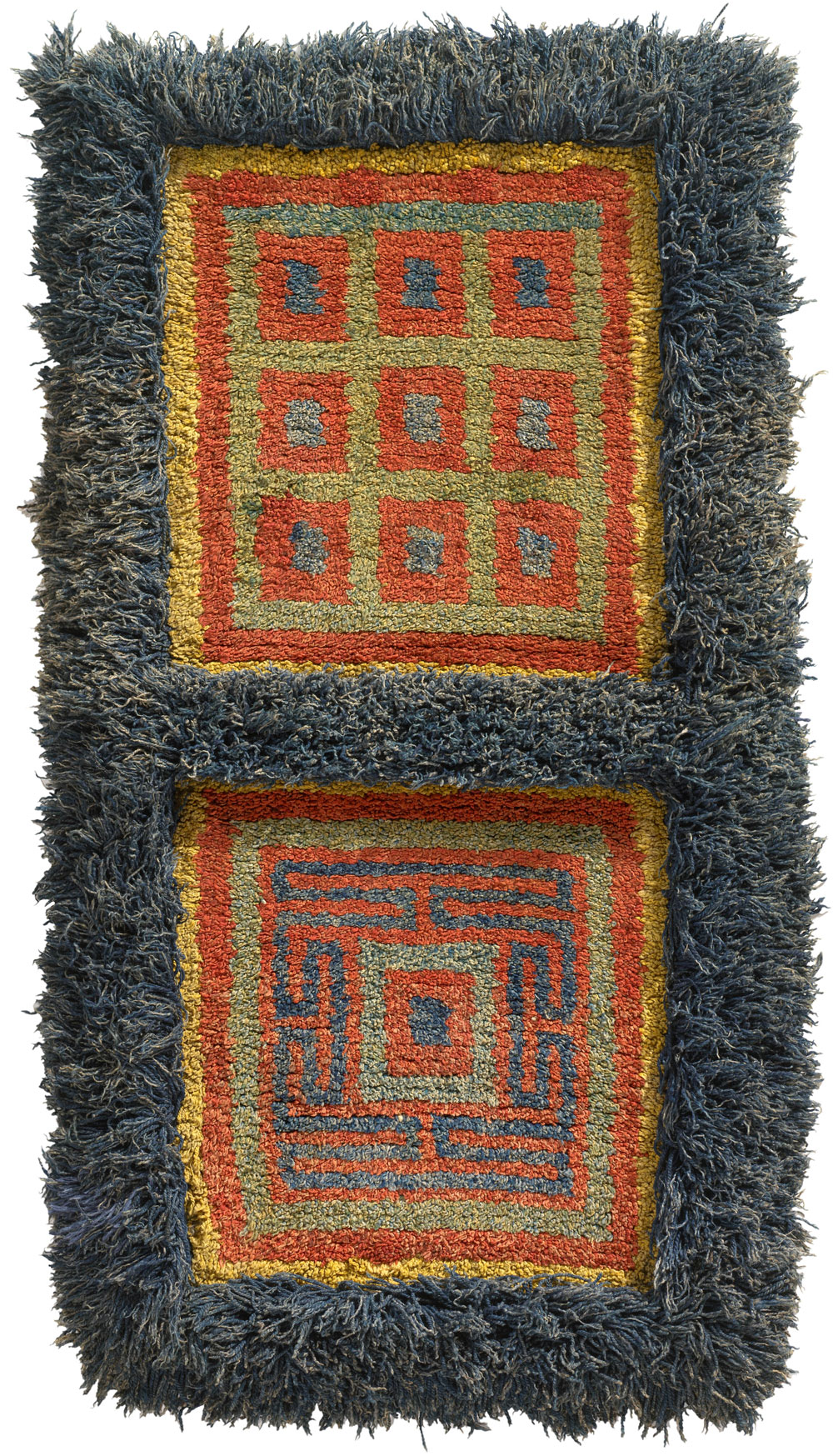 Tibetan rugs at Cologne Fine Art 2014, Wangden warp face back rug, 19th century, 156 x 74 cm