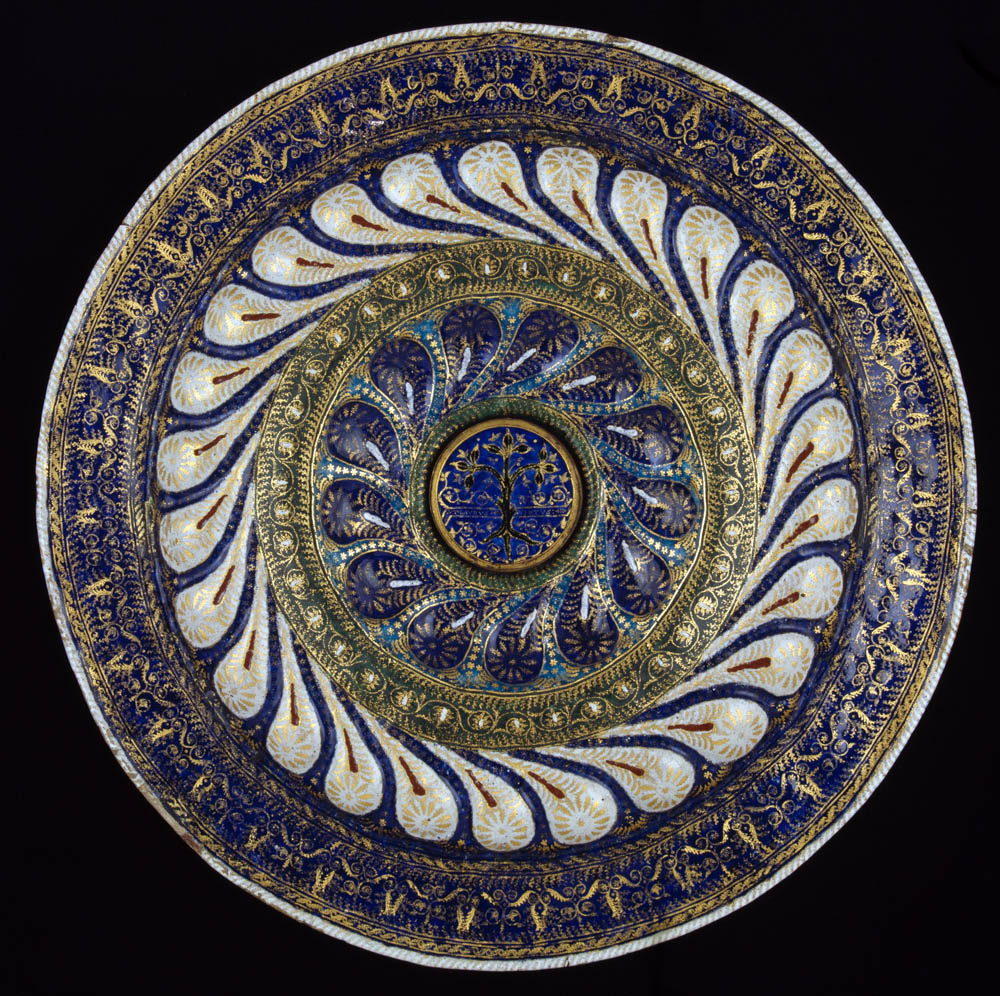 Enamelled Copper Dish, Burrell Collection