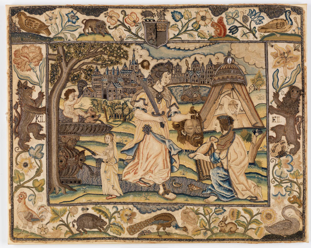 English Embroidered Panel, Burrell Collection