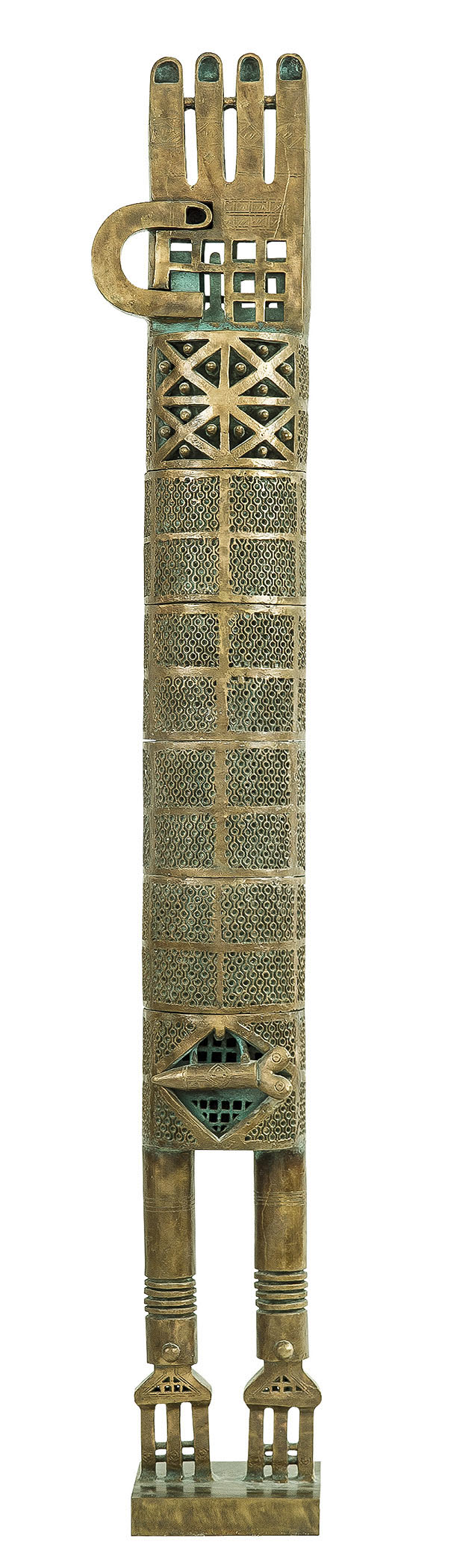 Parviz Tanavoli, The Poet, 1973. Bronze. Collection of the artist. Photograph- John Gordon (300)