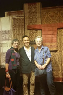 John Ang with Pamela Cross of tribaltextiles.info and Susan Stem of Tribal Trappings, Chiangmai, Woven Connections, Samyama