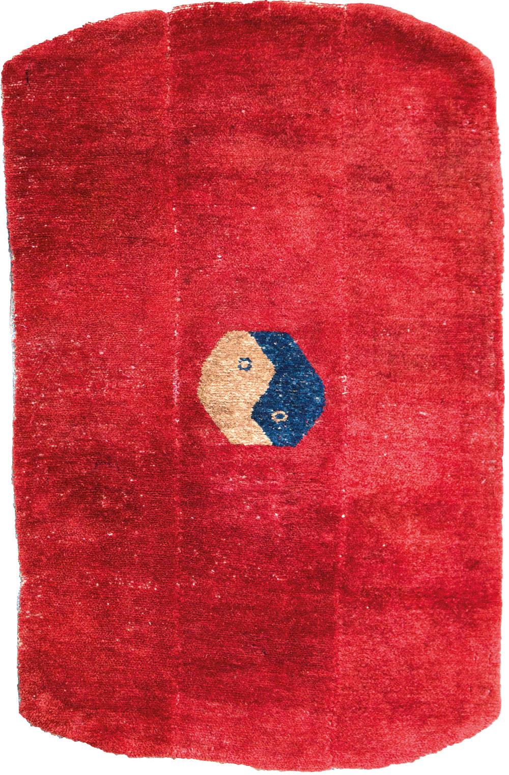 BRAFA, Tibet, Tsukdruk, wool on wool, 56x87 cm, end of 19th century